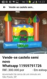 Castelo Inflável Semi Novo