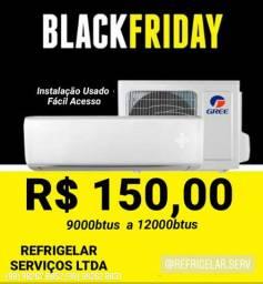 Instalação Novo 9000btus R$150,00