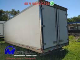 14 paletes bau frigorifico caminhao truck Mathias Implementos