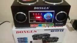 Rádio Gangaohuawei HW-652, FM, USB, SD Card, Pendrive, MP3