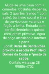 Aluga-se casa na Barra de Santa Rosa Irupí ES