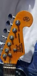 Queimando super guitarra Sx Vintage custom handmade