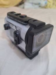Camera Sony Action + Visor + Capa Prova d'agua Usada 2 Vezes