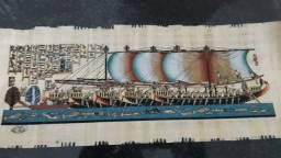 Papiro Egípcio com certificado de autenticidade.
