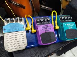 Kit Pedais top com Crystal box, overdrive e compressor
