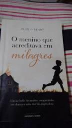 Livro o menino que acreditava em milagres