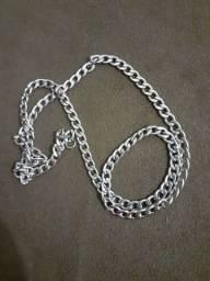 Colar de prata masculino