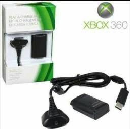 OFERTA Kit Bateria + Cabo Carregador Xbox 360 Novos e entregamos