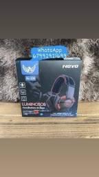 Fone Headset Gamer P2 C/led Azul, para Ps4/Xbox One e celular.