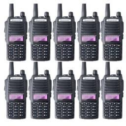 20 Rádio Comunicador Walk Talk Baofeng Uv-82 Dual Band Rádio Fm C Fone