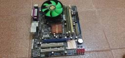 placa mãe + processador + memoria ram + cooler + hd - LGA 775