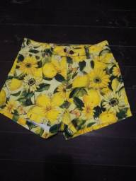 Shorts de girassol