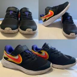 Tênis Nike Infantil Preto n°27 Aceito cartão
