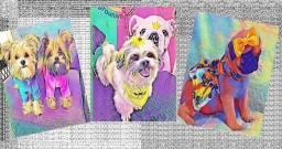 Quadros decorativos artísticos para seu pet