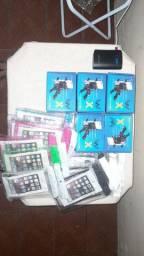 Suporte de celular X com carregador USB pra moto