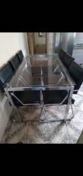 Título do anúncio: Mesa de jantar aço nobre com 6 cadeiras