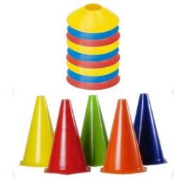 Kit Cones e Pratos Para Exercícios Funcionais