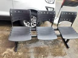 Título do anúncio: Promoção! Cadeira Longarina Recepção 3 Lugares - Novas (Leia)