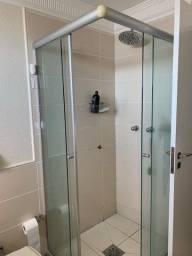 Conjunto completo para banheiro usado cor creme (vaso, box, 2pias..,)