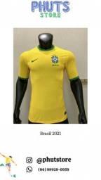 Camisa de futebol brasil versão jogador