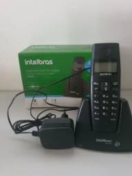 Telefone sem fio Intelbras TS 40 ID preto