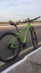 Título do anúncio: Bike Aro 29 Cxr Lotus 21v Verde E Preto Shimano Original Com Nfe