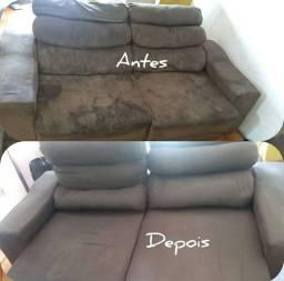 Lavagem a seco de sofá e colchão