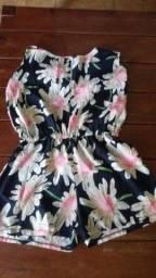 Título do anúncio: macaquinho florido, tecido leve, fino, ideal para todas ocasiões tamanho G