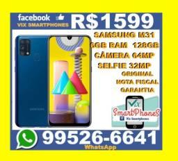 -P-R-O-M-O-Ç-Ã-O- Samsung M31 128GB 6GB ram Bateria 6000 camera 64MP 8795gocdg*