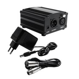 Phantom Power 48v + Cabo xlr (Bm800)