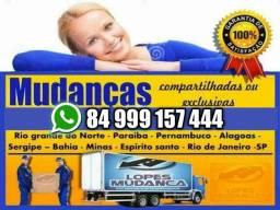 Título do anúncio: Mudanças Interestadual João Pessoa × Rio = São Paulo = Brasília