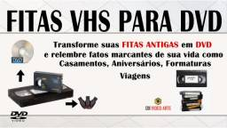 Fitas VHS para Pendrive ou DVD