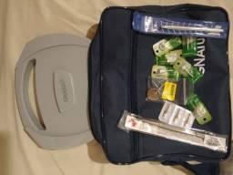Materiais odontológico, kit nunca usado, e outros materiais.