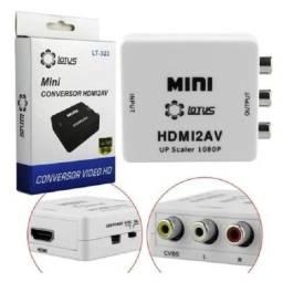 Mini Conversor de Vídeo HDMI para AV