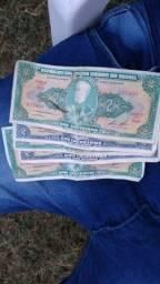 Cédulas de dinheiro cruzeiro