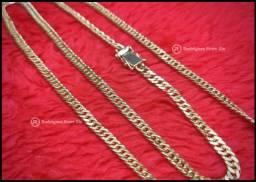 Cordão modelo Lacraia banhada em Ouro 18k Novo