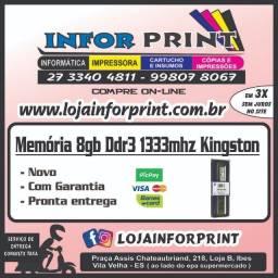 Memoria 8gb ddr3 1333mhz Kingston