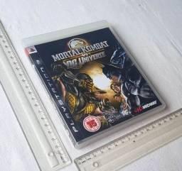 Caixinha Manual e Encartes Originais PS3 - Mortal Kombat Vs CD Universe - Não Tenho Cd