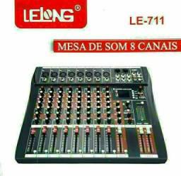 Mesa De Som Bluetooth Usb Mixer Mp3 Digital 8 Canais<br>