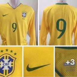 Camisa seleção brasileira manga longa de jogo  G 79x53