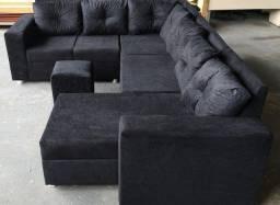Título do anúncio: Sofá em L com chaise longue disponível para pronta entrega