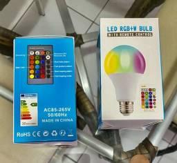 Lâmpada WiFi Inteligente LED RGB E27 para Alexa/Google Home