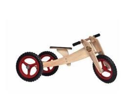 Kit Bicicleta / Triciclo 1 A 5 Anos Woodbike 3 Em 1