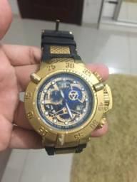 Relógio Invicta Subaqua Noma Iii 18526 Dourado Pulseira Preta Primeira linha