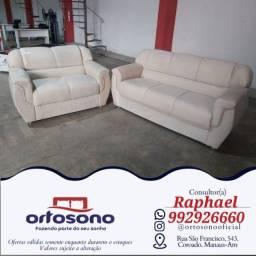 Título do anúncio: sofa sofa jogo 2 e 3 lugares - entrega gratis