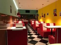 Sofas booth retro para lanchonetes e restaurantes tematicos