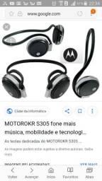 Fone Motorola S305 Bluetooth estéreo troco por celular