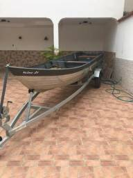 Barco Squalus- levefort 6 metros e trolete hobby 2017 - 2010