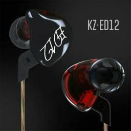 Fone de ouvido kZ ed12 destacável com microfone
