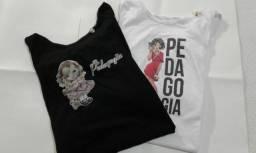 Kit camiseta baby look